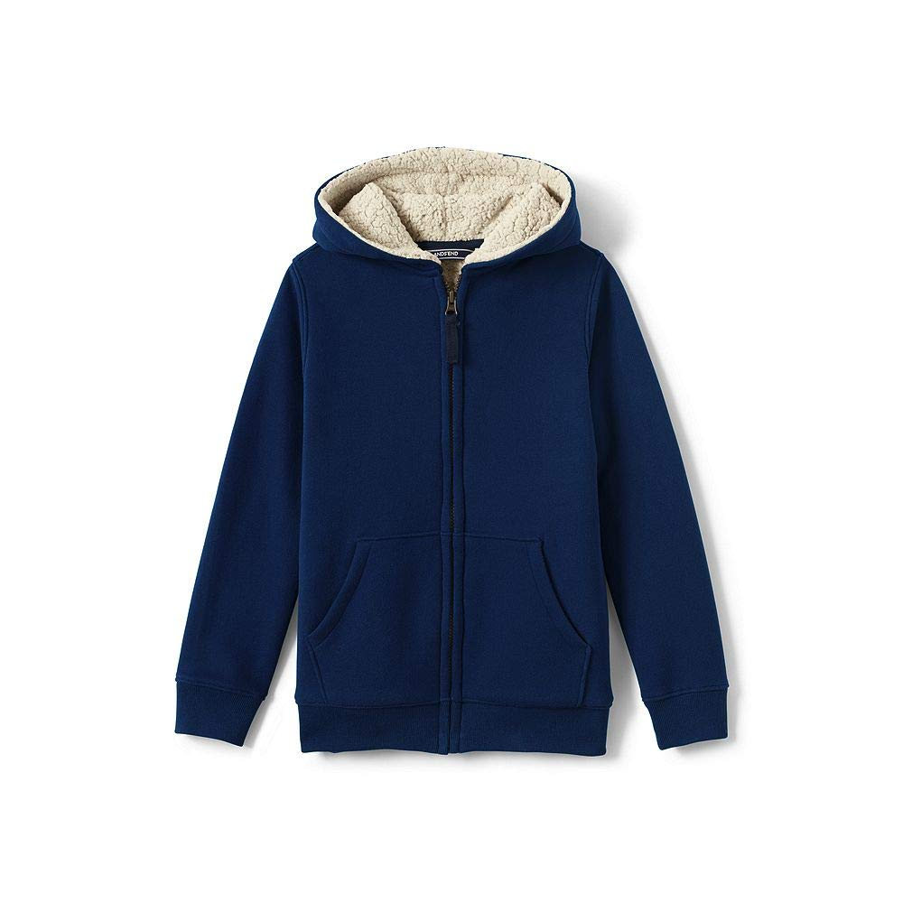 4294a3a5b Amazon.com: Lands' End Boys Sherpa Lined Hoodie: Clothing