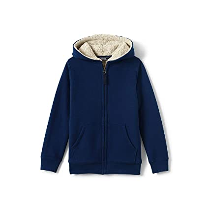 Lands' End Boys Sherpa Lined Hoodie by Lands' End