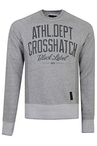 Crosshatch Herren Langarmshirt, Einfarbig Gr. X-Large, grau