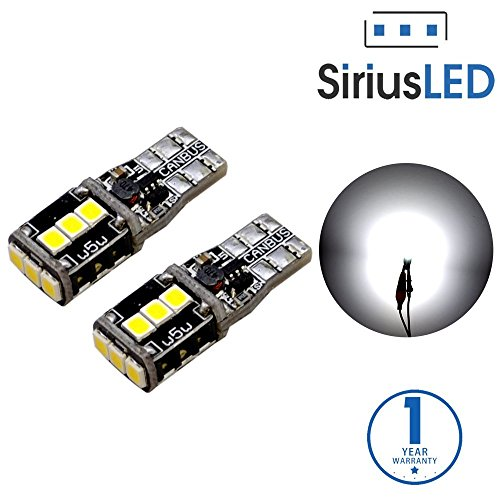 SiriusLED 921 Back up Reverse Canbus Error Free Super Bright White 3030 Chip LED Light Bulb Pack of 2