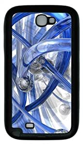 3D Blue Piping Hard Samsung Galaxy Note 2/ Note II/ N7100 Case Cover - Black WANGJING JINDA