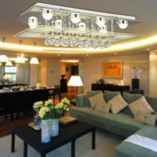 OOFAY LIGHTR Simple And Elegant Modern Crystal Light 8 Head Ceiling Lamp For Living Room Fashionable Bedroom