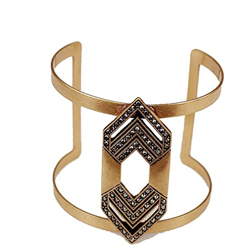 G&T New Hollow Geometric Broadside Exaggerated Openings Alloy Bracelet Holiday Gift(C1) (Simple Homemade Frog Costume)