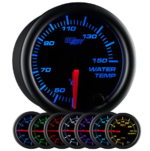 GlowShift Black 7 Color Celsius Water Temperature Gauge ()