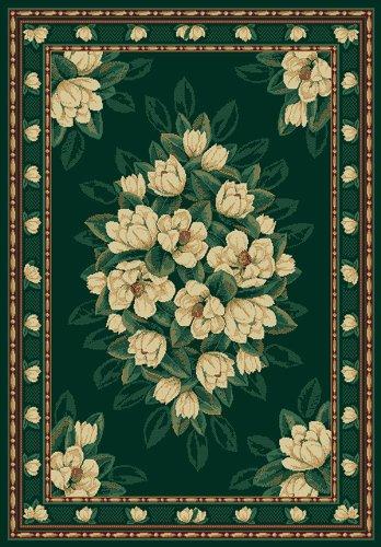 - Designer Home Urban Area Rug 040-37042 Magnolia Hunter Floral Magnolias 5' 3