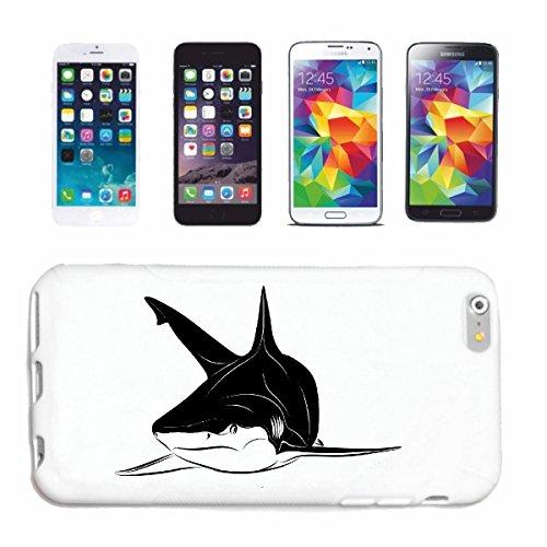 caja del teléfono iPhone 7S WHITE SHARK HAI HAI ATAQUE DEL TIBURÓN BLANCO HAI Catshark Sandhai Tiger Shark Caso duro de la cubierta Teléfono Cubiertas cubierta para el Apple iPhone en blanco