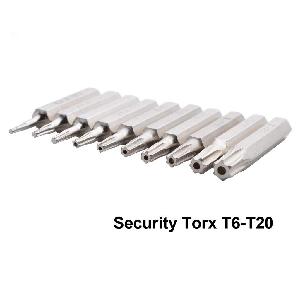 Gunpla Lot de 10 Embouts pour Tournevis Torx avec Tige Hexagonale en Acier CR-V de Vissage /à Lib/ération Rapide pour R/éparation /Électronique Facile T3 T4 T5 T6 T7 T8 T9 T10 T15 T20