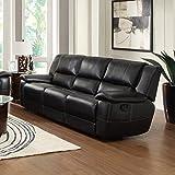 Coaster Home Furnishings Transitional Motion Sofa, Black