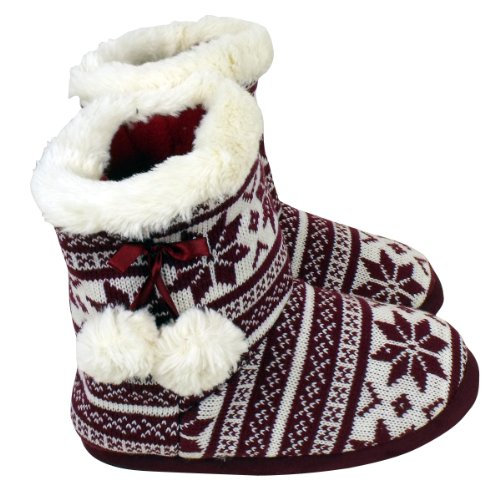 Ankle Ladies Womens Furr Flakes Bootee 8 3 Furry Quality White Slipper Eskimo Sizes Boot Red Slippers tqq4AYZ