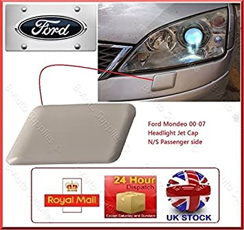 FORD MONDEO MK3 III 3 00-07 HEADLAMP LIGHT WASHER JET CAP COVER N//S LEFT PAS NEW