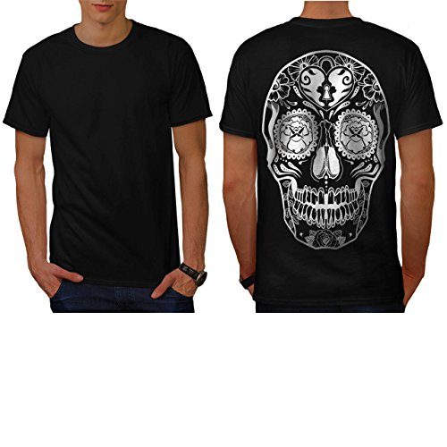 [Crazy Print Skull Aztec Style Men NEW M T-shirt Back | Wellcoda] (Spider Costume Pattern Free)