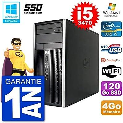 HP PC 6300 MT Intel Core i5-3470 RAM 4 GB SSD 120 GB grabadora DVD ...
