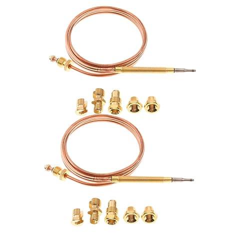 FLAMEER 2X Termopar de Reemplazo Horno de Gas Reemplazo Calentador Fácil de Instalar Cómodo