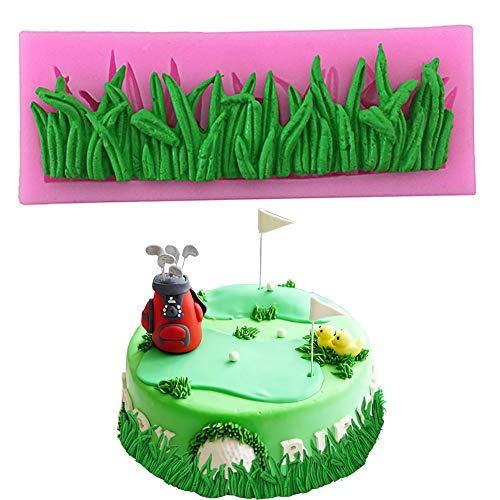 PalkSky Grass Shape Silicone Mold Fondant Mold Chocolate Mold Cake Decoration Tool for birthday cake weeding cake