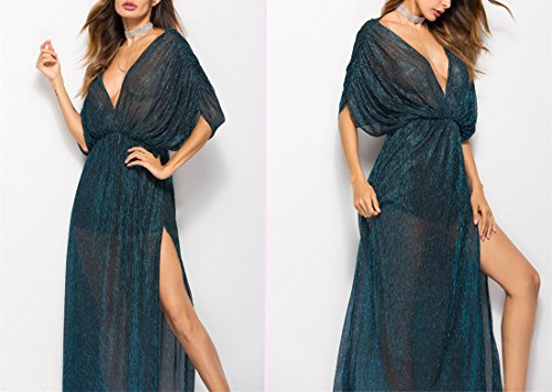 Dress Prom Halter Dew Through Ai Slim Leg Cocktial See Hole Moichien Lady V 2 Backless Night Dresses Blue Neck Gown Golden Deep Maxi ng8UXgqf