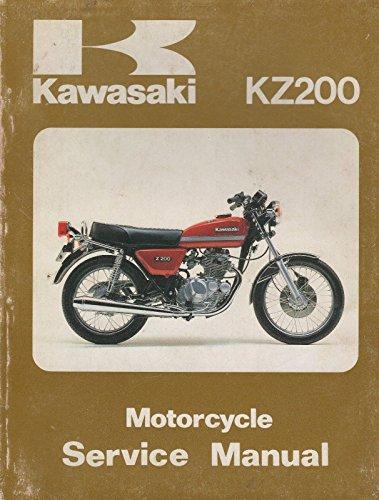 1977-1982 KAWASAKI MOTORCYCLE KZ200 SERVICE MANUAL P/N 99931-541-04 (981)