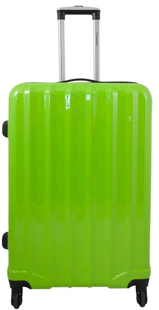 Polycarbonat Hartschalen Koffer Trolley Reisekoffer Reisetrolley Handgepä ck Boardcase im klassischen Design - Miami (Farbe Grü n, Grö ß e M)