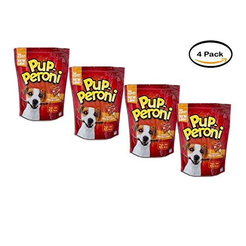 PACK OF 4 - Pup-Peroni Dog Snacks Original Bacon Flavor, 25.