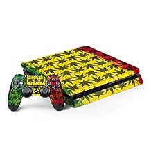 Rasta PS4 Slim Bundle Skin - Marijuana Rasta Pattern | Skinit Lifestyle Skin