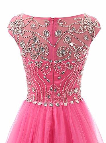 Promworld Damen A-Linie Kleid Rose KnjH3YdCbv