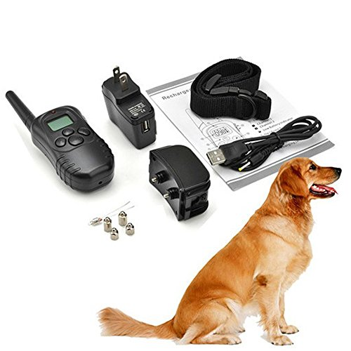 [Angelwing Pet Training Collar Electric Shock Vibration Rechargeable Remote Trainer] (Hippie Inflatable Guitar)