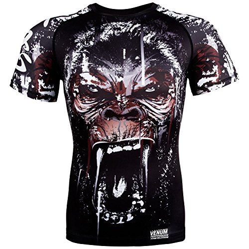 Venum Gorilla Rashguard - Short Sleeves - Black - Large
