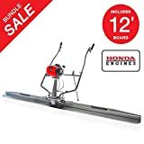 Tomahawk TVSA Vibratory Screed Power Unit Blade 1.6 HP Honda (12 ft Screed Blade Included)