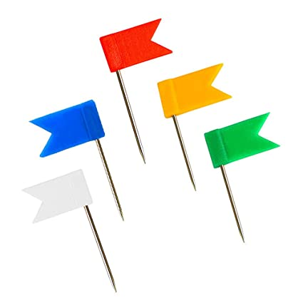 Amazoncom Outus Pieces MultiColor Map Flag Push Pins - Flag pins for maps
