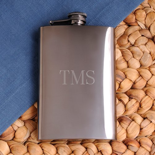 Engraved Gunmetal Flask from Arttowngifts Personalized Gifts