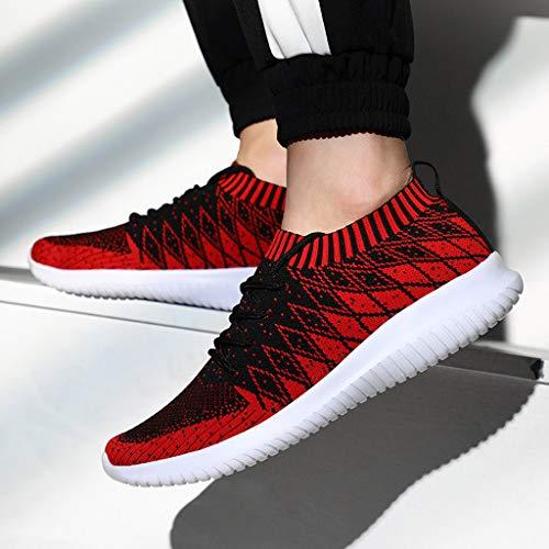 Ginnastica Uomo Rosso Da Casual Estive Stampa Uomogo A Sneakers Sportive Scarpe Righe Running Lavoro Corsa 6BS6xYq