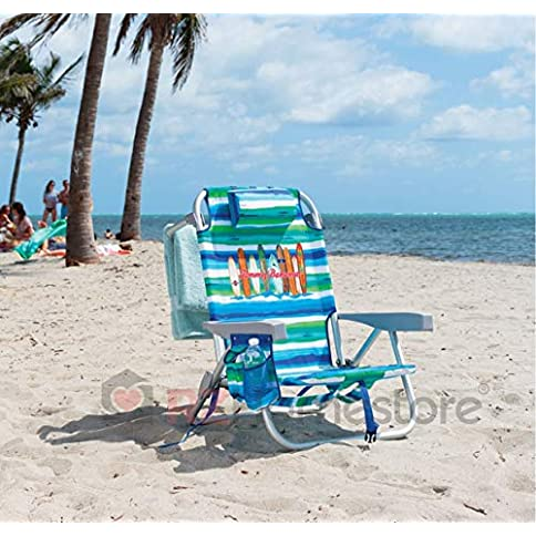 - 51DqFbMV6IL - Tommy Bahama Backpack Beach Chair Multi Color Stripe Surf Board Logo