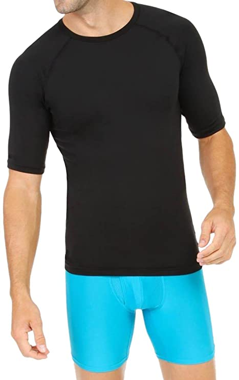 4f659a7e862c3a Lycot Compression Top Half Sleeve Plain Athletic Fit Multi Sports Cycling