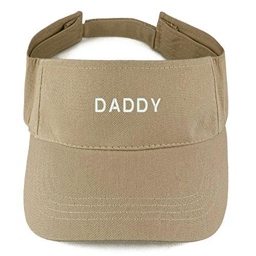 Trendy Apparel Shop Daddy Embroidered 100% Cotton Adjustable Visor - -