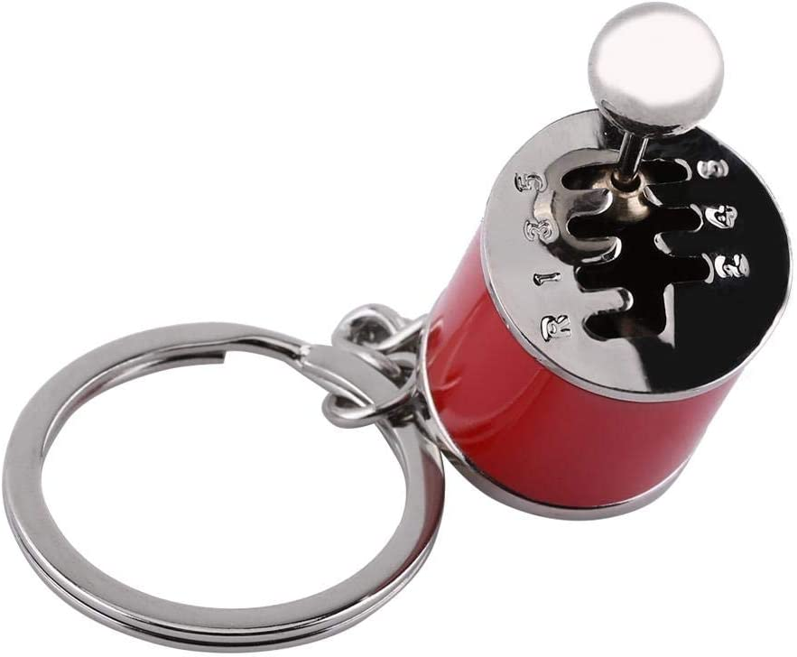 4.05 x 1.61 x 0.8inch Silver Creative Auto Gear Shifter Model Keychain Multicolor Car Shift Shaped Metal Alloy Key Rings HEEPDD Car Shifter Keyring