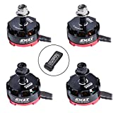 Crazepony 4pcs EMAX RS2205 2300KV Brushless Motor 3-4S 2CW 2CCW for QAV250 QAV300 FPV Racing Drone Quadcopter
