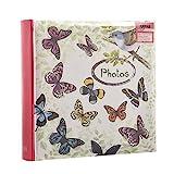 ARPAN Photo Album Slip In Case Memo Album For 200 of 4' x 6'' Pictures Vintage Butterfly - Bird