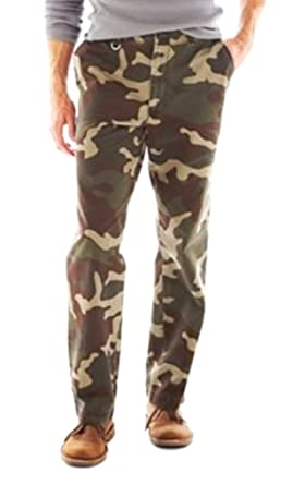 d7df4e3598 JCP St John's Bay Mens Camo Chino Slacks Pants at Amazon Men's ...