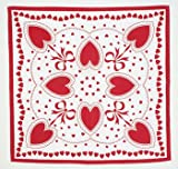 Red Valentine Cotton Tablecloth