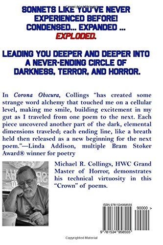 corona obscura sonets dark and elemental michael r collings linda d addison michaelbrent collings 9781534958555 amazoncom books