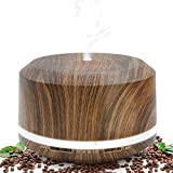 Save on Essential Oil Diffuser 450ml, Wood Grain Aromatherapy Diffusers and Air Humidifiers Set for Large Room - LUSCREAL Gift Idea and more