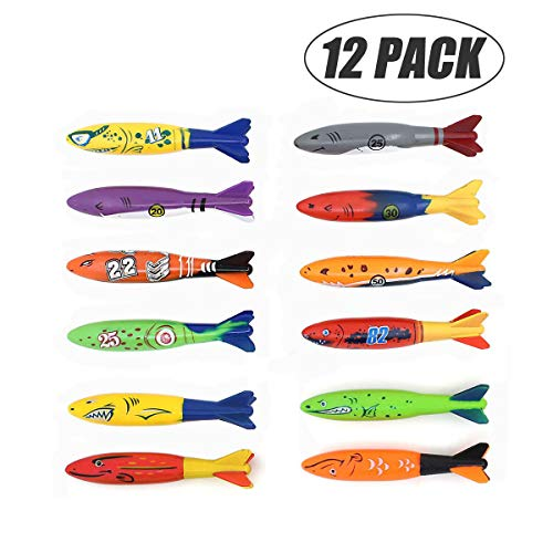 Mysj Pool Toys, Diving Torpedo Family Suit (12 Pack)
