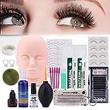 Best Eyelash Extension Kits - Pro 19pcs False Eyelashes Extension Practice Exercise Set Review