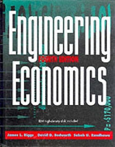 engineering economics james l riggs david d bedworth sabah u rh amazon com