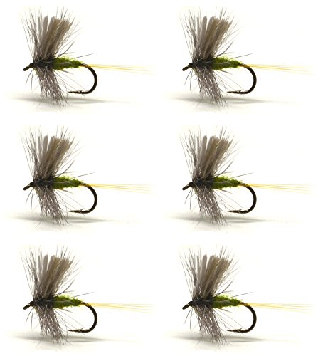 Blue Wing Olive (6pcs / Half Dozen Fly Fishing Flies Blue-wing Olive 12# 14# 16# NEW (16#) )