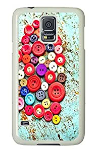 Samsung Galaxy S5 Buttons PC Custom Samsung Galaxy S5 Case Cover White
