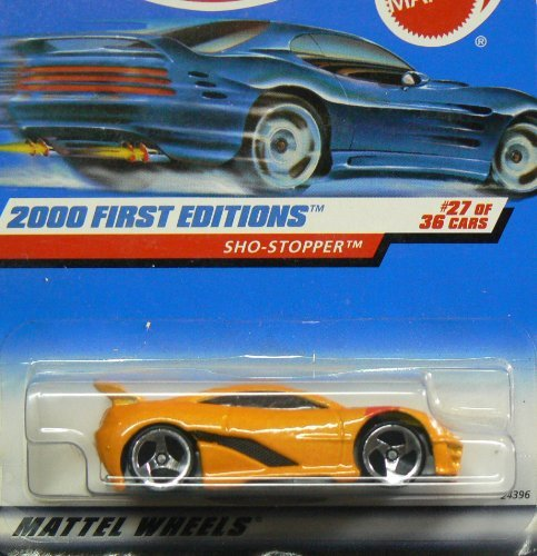 (2000 First Editions -#27 Sho-Stopper 3-Spoke Wheels HW Logo #2000-87 Collectible Collector Car Mattel Hot Wheels 1:64 Scale)