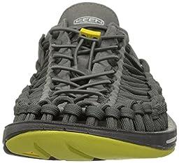 KEEN Men\'s UNEEK Flat Shoe, Gargoyle/Warm Olive, 12 M US
