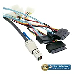 External Mini SAS HD SFF-8644 to 4 x 29-Pin SAS SFF-8482 Cable 1 Meter