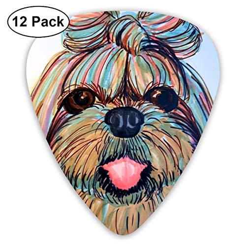 (Shih Tzu Head Baby Dog Pupy Women Small Medium Large 0.46 0.73 0.96mm Mini Flex Assortment Plastic Top Classic Rock Electric Acoustic Guitar Pick Accessories Variety Pack)