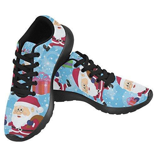 InterestPrint Womens Jogging Running Sneaker Lightweight Go Easy Walking Casual Comfort Running Shoes Christmass Cartoon Santa Clauses Walking With Gift boxes Multi 1 kD2XUgt